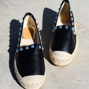 Shoes - LAST PAIR//The Natalia // Black studded Espadrille